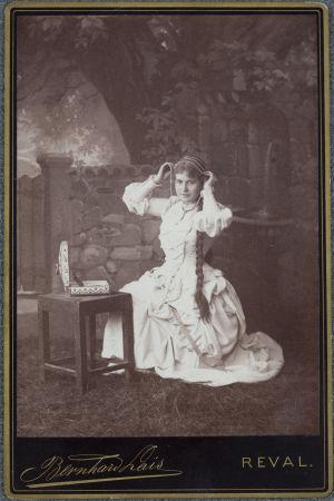 Una vecchia foto di un artista teatrale