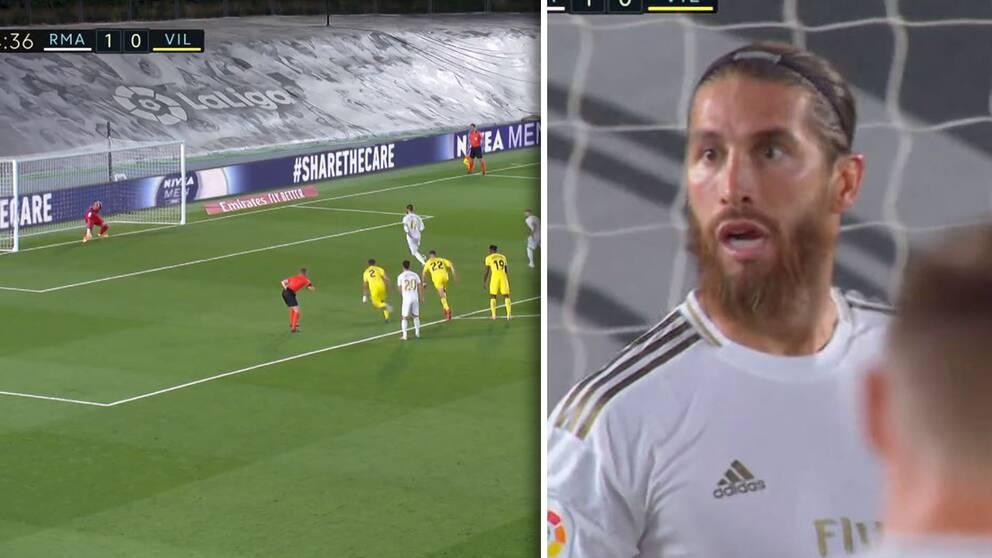 Sergio Ramos ha provato una penalità diversa nell'incontro con il Villarreal.
