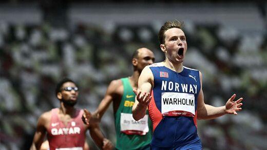 Karsten Warholm ha stabilito il suo record mondiale con un massimo di 76 centesimi negli ostacoli dei 400 metri.