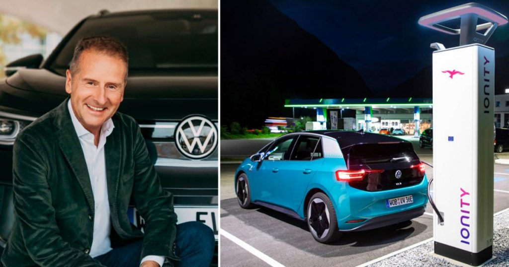 """Il capo VW ha visto la rete di ricarica privata: """"accordo sfortunato"""""""